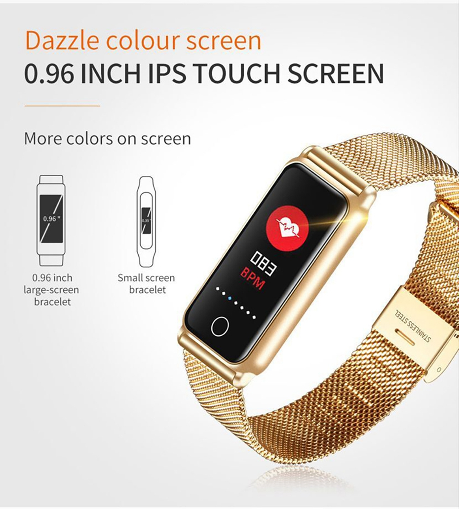 Y8 Smart Watch Stainless Steel Women Sports Touch Screen Health Bracelet Ons Men Fitness Bracelet for Measuring Pressure Fitness 2018 2019 (2)