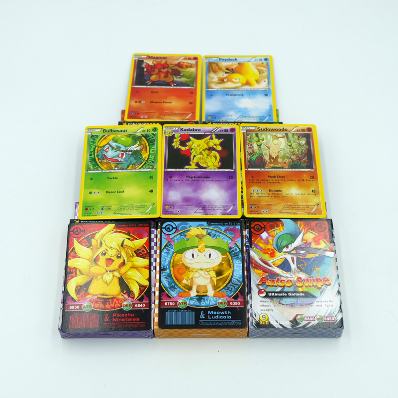 2017 New Version 17Pcs/Set English Pokemon Cards XY Trading Card Playing Games Collections Commemorative Edition Pokemon Go Toys