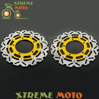 2Pcs Gold Motorcycle Front Floating Brake Disc Rotor For GSR400 GSR600 GSF650 GSR750 DL1000 GSF1200 GSF1200S