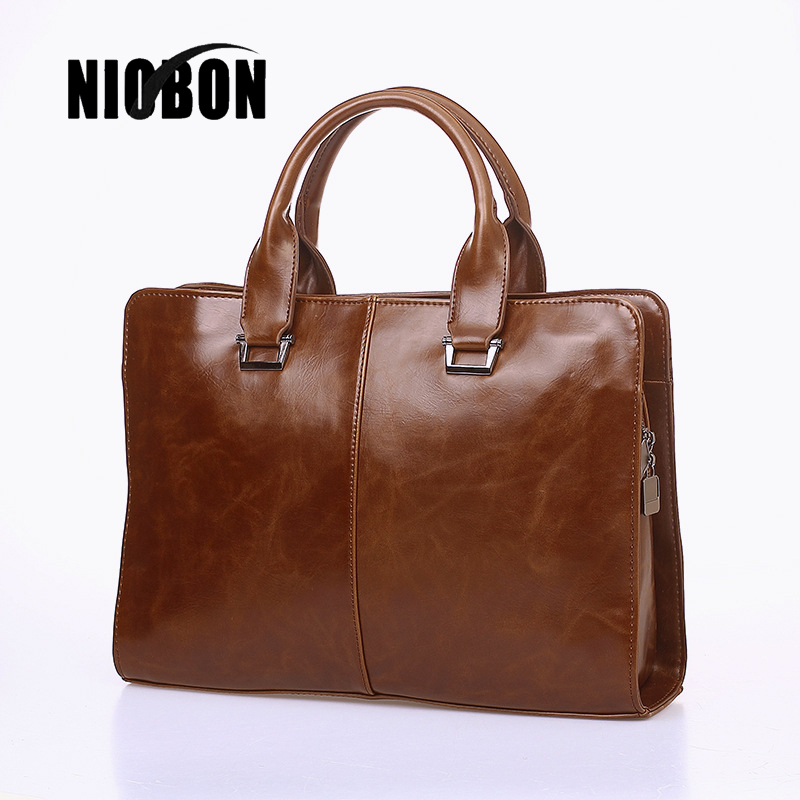 2017 New Fashion PU Leather Men Bag Famous Brand Large Capacity HandBag Causal Business Case Handbag Laptop Briefcase Male