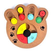 Alimentos Naturales en forma de pata de madera perro mascota gato IQ entrenamiento Juguetes educativos juego de alimentación pata rompecabezas placa Juguetes Para perros