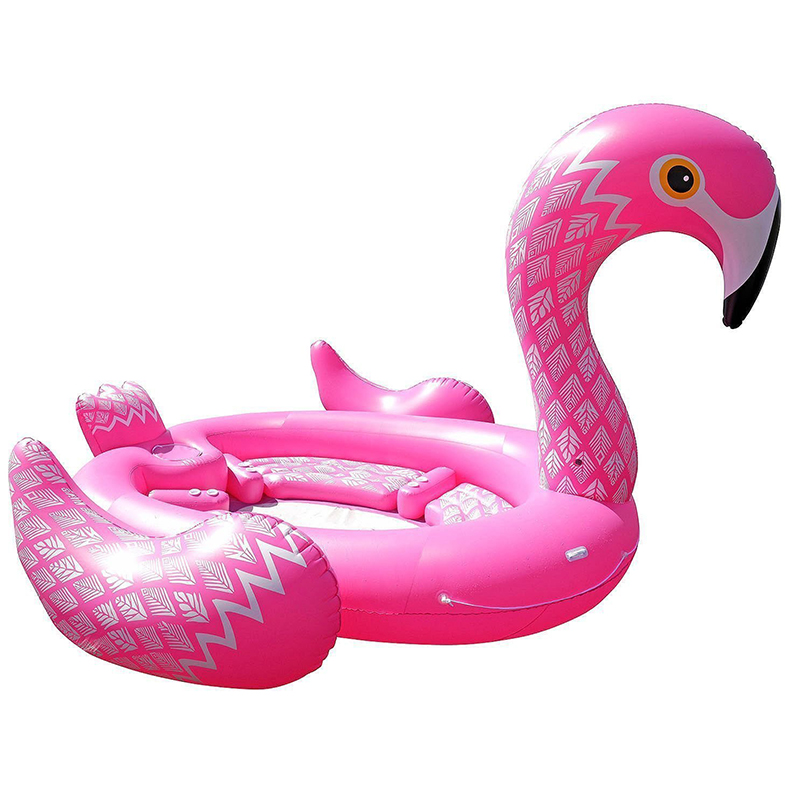 Giant Inflatable Flamingo Float Inflatable Ride-ons Lake Island Water Toys Fun Swimming Pool Raft 6 7 Adults Children Party Toy