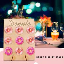 Wooden Donut Wall Stand Wedding Decoration DIY Holder Doughnut Display Baby Shower Birthday Party Decor