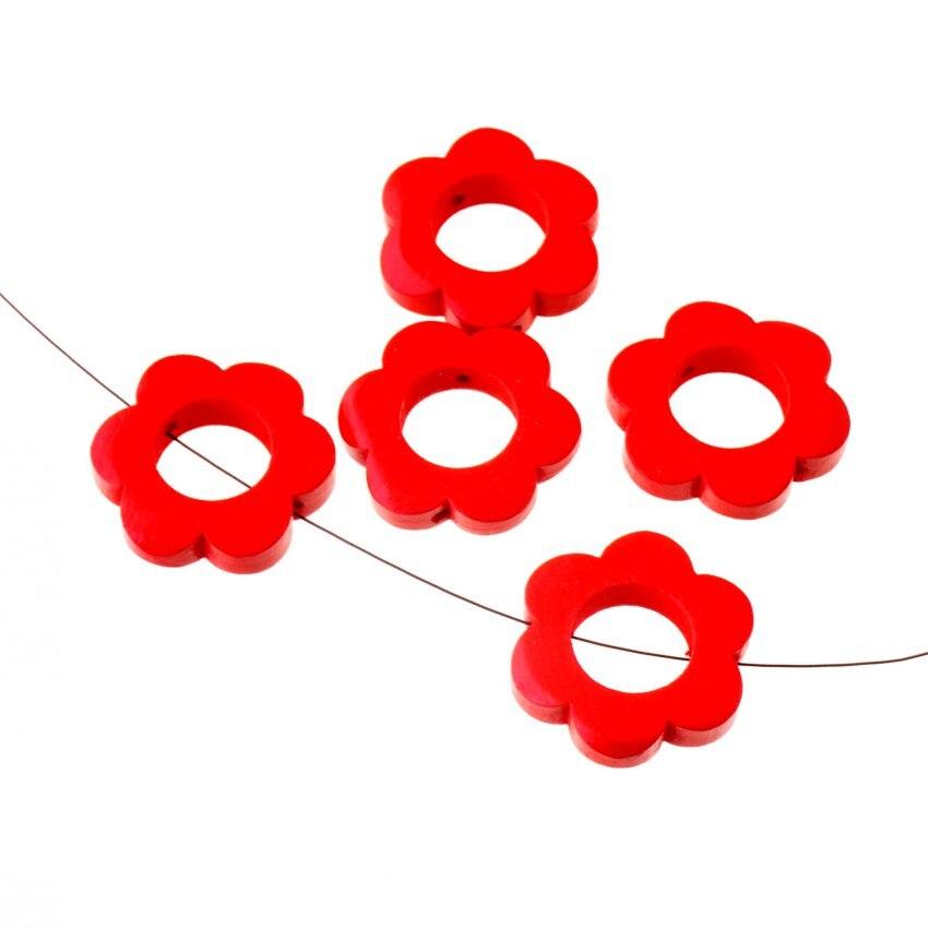 10 stücke 30mm Holz Farbstoff Blumen distanzscheiben korne Für Baby ...