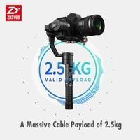 מצלמה קנון Zhiyun קריין פלוס 3 ציר כף יד gimbal מייצב 2.5kg Payload עבור סוני פנסוניק קנון ניקון Dsrls מצלמה ללא סוללות (2)