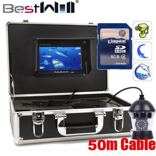 50 m Sony CCD A colori PTZ 360 Girevole di pesca della macchina fotografica 360 di rotazione videocamera Subacquea con DVR 360 gradi di pesce video macchina fotografica