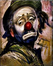 1 panel clown classic oil painting culture and art mural decoration house framed XJDP-59