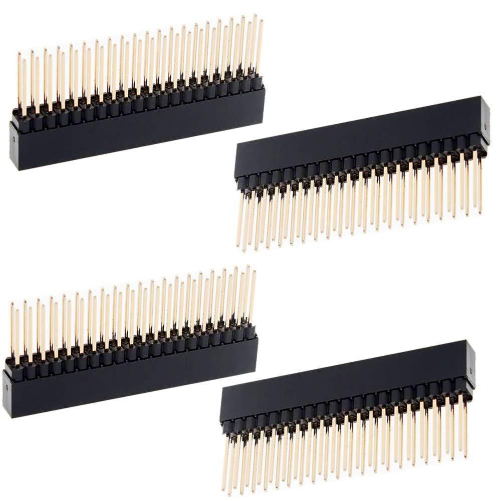 4PCS Stacking Header for Raspberry Pi A+/B+/Pi 2/Pi 3 - 2x20 Extra Tall Header4PCS Stacking Header for Raspberry Pi A+/B+/Pi 2/Pi 3 - 2x20 Extra Tall Header