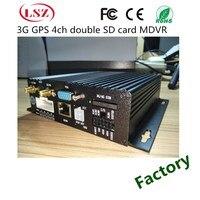 720 P/960 P çift SD kart 4G araba AHD Video kaydedici GPS konumlandırma ile araba dvr'ı 4 araba ev sahibi