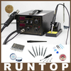 700W 220V Pump Type Yihua 852D Hot Air Gun Digital Soldering Iron SMD Rework Station With