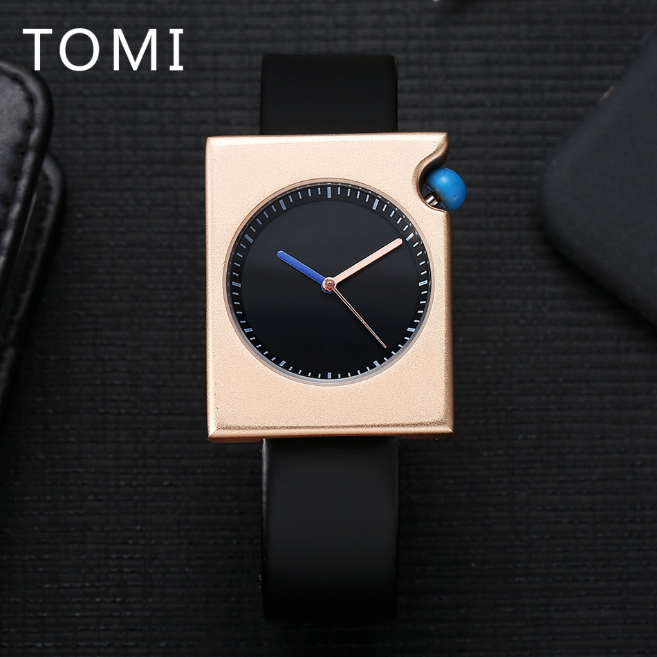 New Arrive TOMI Brand Mens Watches Top Brand Luxury Business Fashion Leather Quartz WristWatches Mens Sport Watch Relogio T002 2017 new top fashion time limited relogio masculino mans watches sale sport watch blacl waterproof case quartz man wristwatches