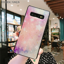 YHBBCASES Gold Foil Bling Cases For Samsung Galaxy S10 Plus Fashion Stars Cover S8 S9 N8 Gradient Universe Case