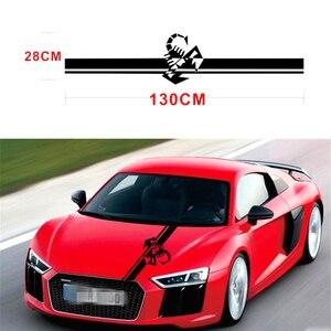 Image 3 - 130x28 CM Racing Stripes Scorpion Vinyl Decal Sticker Creative Stickers For VW Kia Hyundai BMW