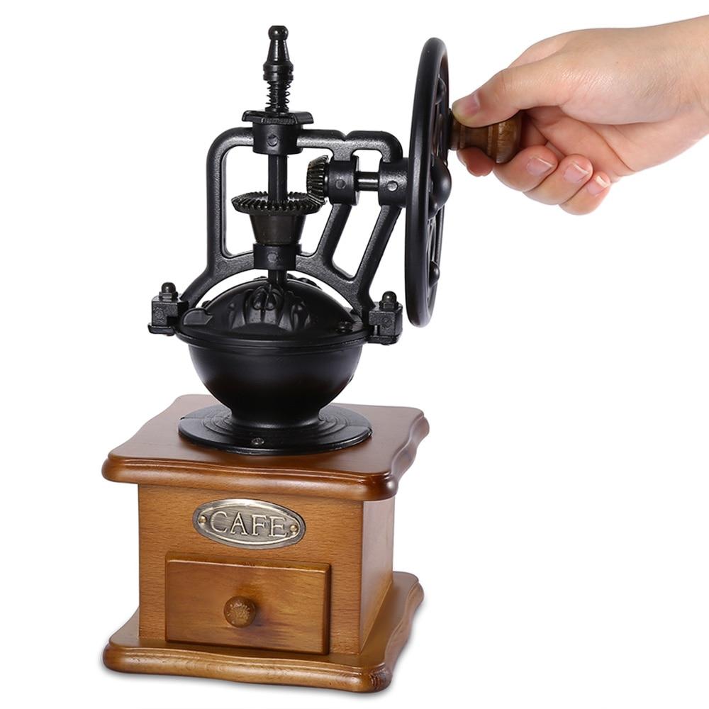 Hand Crank Coffee Grinder ~ Retro style burr coffee grinder manual hand maker