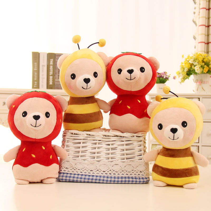 20cm Bee Plush Toy ladybugs Stuffed Doll Red Beetle Toy For Baby Kid Children's Gift Home Decoration bear Animal Insect Soft Toy 50cm lovely super cute stuffed kid animal soft plush panda gift present doll toy
