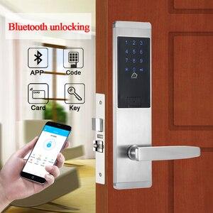 Image 2 - Serrure de porte intelligente avec combinaison de sécurité électronique, application de verrouillage de porte intelligente, wi fi, clavier à écran tactile, mot de passe, pour porte et bureau