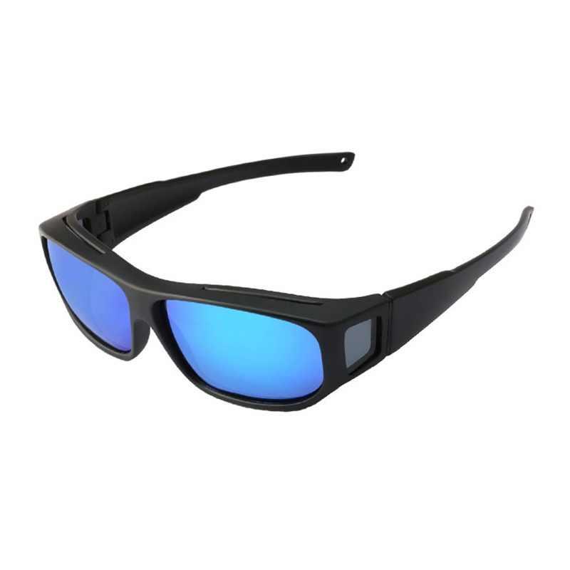 08e8eb523e3 JIANGTUN TR90 Fit Over Sunglasses Men Women Polarized UV400 Lens Covers  Prescription Sun Glasses Wear