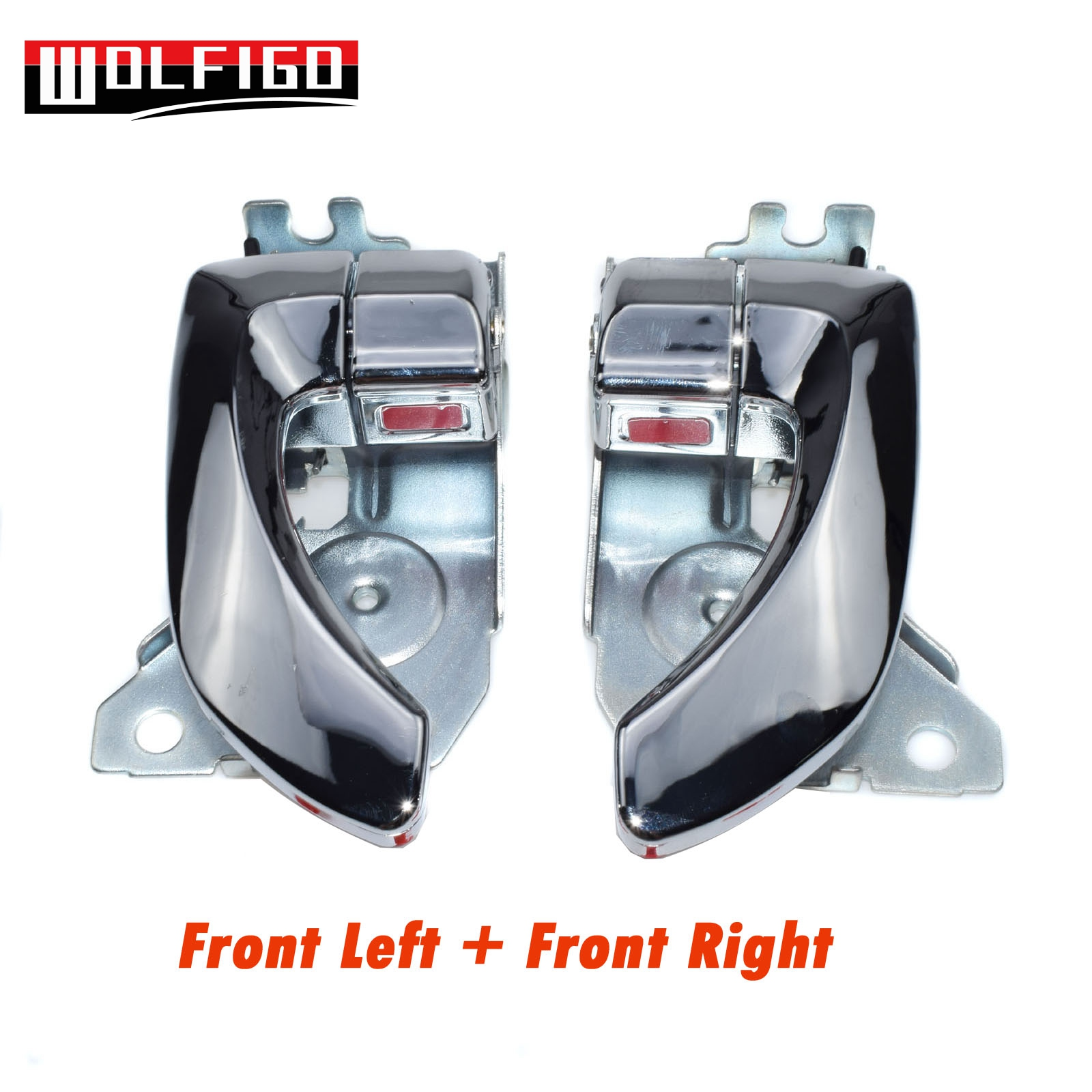New Pair Inside Door Handles Front Left Right Chrome for Kia 2003-2009 Sorento