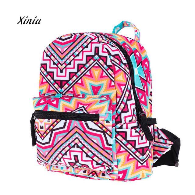 bc91a17b2c New Fashoin Child Colorful Print Backpacks Girls Cute Mini Bookbag Rucksack  Mini Backpack School Bag Kids
