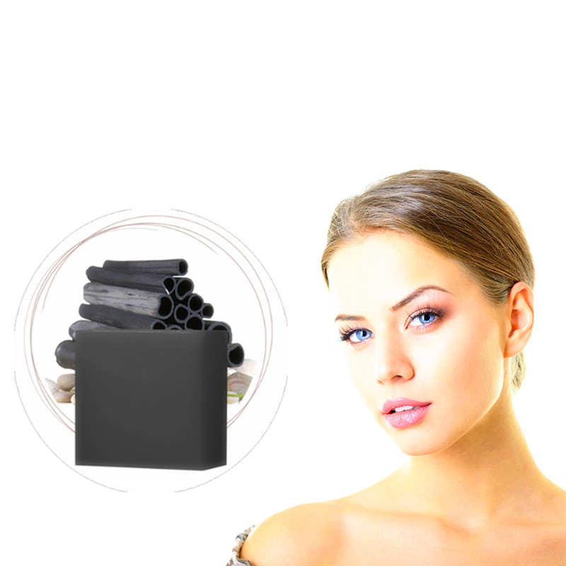New Activated Charcoal Crystals Handmade Soap Face Skin Whitening Soap For Remove Blackhead And Oil Control Washing A Face Soap