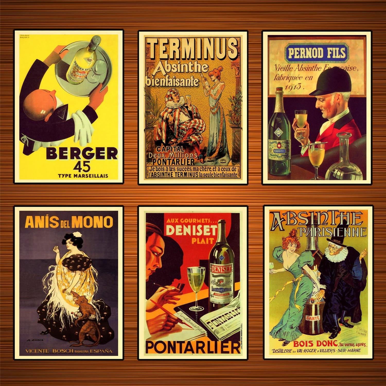 A1 A2 A3 A4 A5 Classic Cocktail Recipes Vintage Art Print Poster