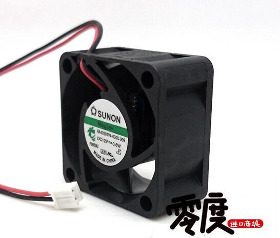 SUNON HA40201V4-0000-999 4020 4cm DC 12V 0.6W 40*40*20mm 2-line Cooling Fan