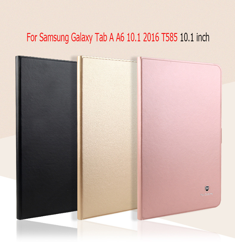 Luxury smart Case For Samsung Galaxy Tab A A6 10.1 2016 T585 T580 10.1 inch Tablet Stand cover For Samsung Galaxy Tab A6 T580 heavy duty silicone hard case cover protector stand tablet for samsung galaxy tab a a6 10 1 2016 t585 t580 sm t580 stylus
