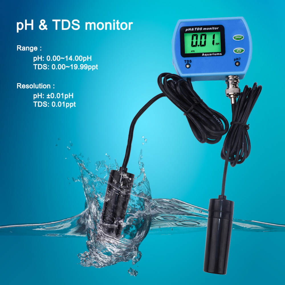 Portable 2 In 1 Multiparameter Water Quality Analyzer PH Tester Multi-parameter Good Water Quality Monitor PH TDS Meter цена
