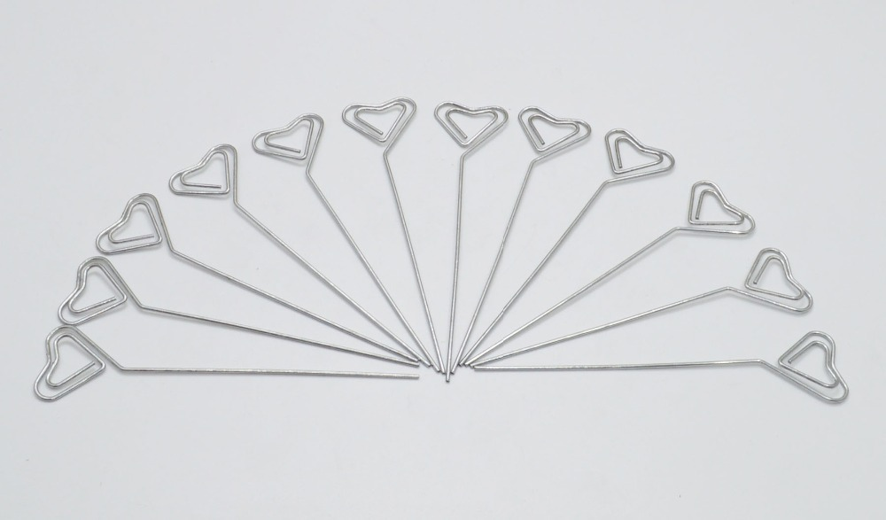 50pcs/lot DIY Heart Shape Craft New Wire Clip Card Note Photo Memo ...