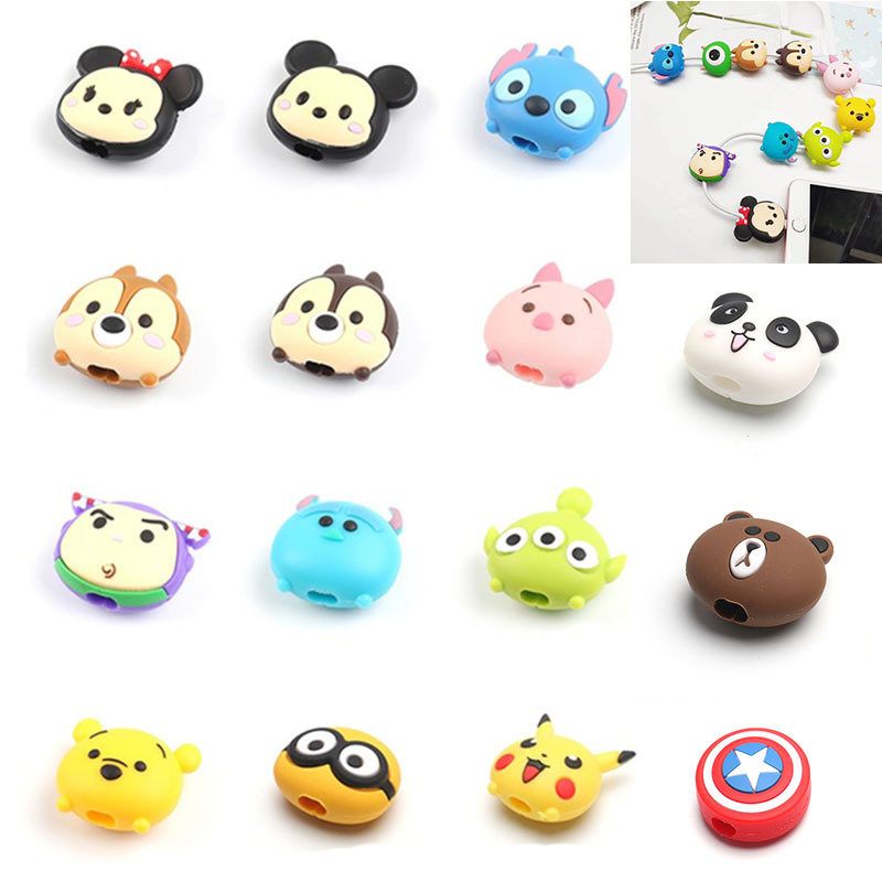 Usb-Cable-Protector Charger Wire-Holder Chompers-Cord Phone Animal Bite Cartoon Cute title=