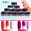 1g/box Thermochromic Pigment Thermal Color Change Temperature Powder 3D Tips Manicure Dust Decorations Gradient Nail Art Powders