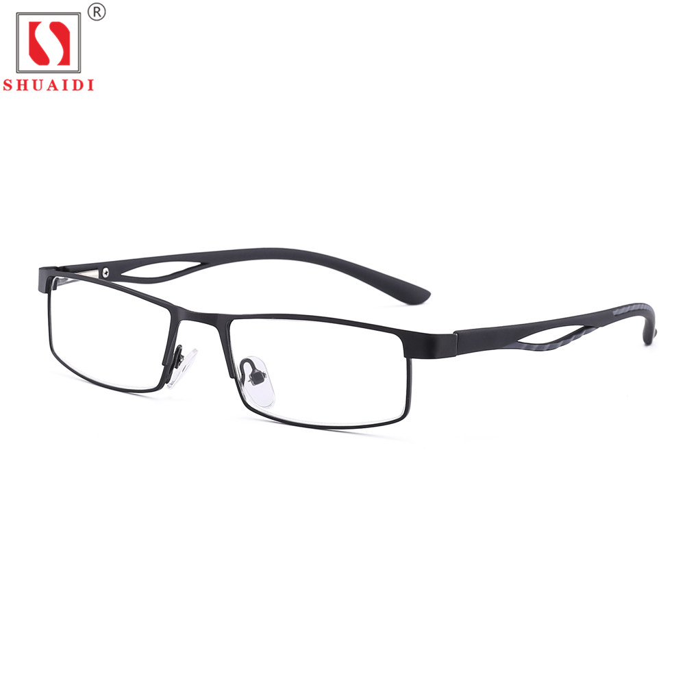 Unisex TR90 Frame Reading Glasses Men Women Resin Square Optical Lenses Anti-Fatigue Reader Eyewear With Case +1.0 To+4.0