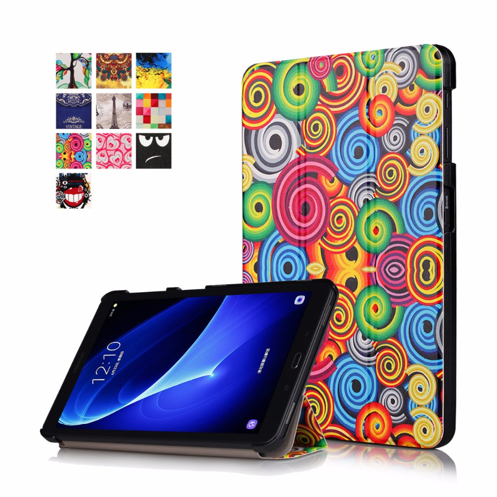 PU Leather Case For Samsung Galaxy Tab A 10.1''A6 T580N T585, Protective Stand Case for Galaxy Tab A 10.1 SM-T580/585 Funda Capa