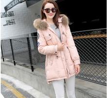 Big yards Thick Super Warm Cotton Down jacket Hooded Fur collar Medium Long Coat Women Fashion Elegant Slim Winter Coat G1863