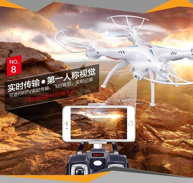 X5SW 2.4G RC quadcopter RC drone Syma rc helicóptero com câmera de 2MP wifi FPV frete grátis