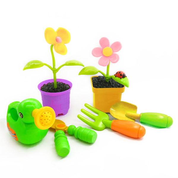 Nueva llegada plástico kids toys mini maceta jardinería herramientas ...