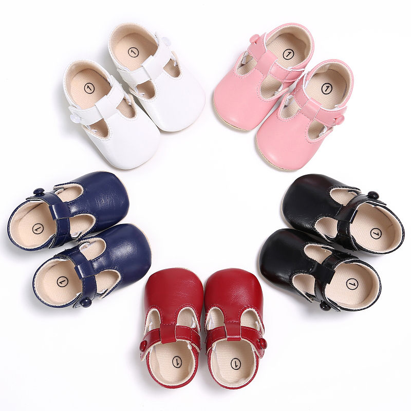 Baby Shoes Sweet Casual Princess Girls Baby Kids Pu Leather Solid Crib Babe Infant Toddler Cute Ballet Mary Jane Shoes 0-1T | Happy Baby Mama