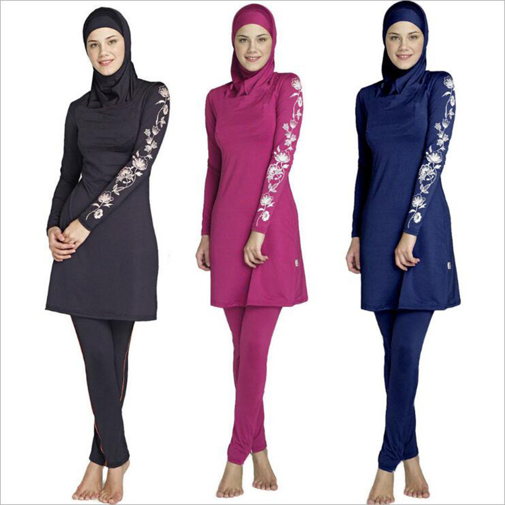 05dc5f7bef84 Modest Muslim Swimwear Islamic Swimsuit for Women Hijab Swimwear Full  Coverage Muslim Swimming Beachwear Swim Suit