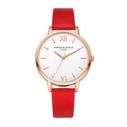 Новый Розовое золото римскими цифрами Для женщин кожа часы 2018 марка класса люкс Круглый Мода Популярные наручные часы Женское платье