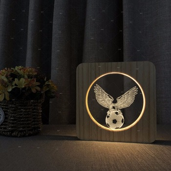 s football shape wooden acrylic table lights gift for football kids led desk lamp gift for football player w c football 2018