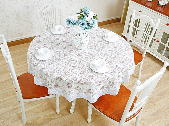 Family Table Cloth Round Table Mat Small Round Table Cloth Lace European  PVC Round Table Diameter