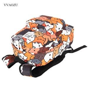 Image 2 - Anime Neko Atsume Ba Lô Nữ Hoạt Hình Mochila cho Bé Gái Bé Trai Du lịch Mèo In Túi dành cho Tuổi Teen