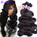 7A Malaysian Body Wave 4PCS lot Malaysian Virgin Hair Body Wave Human Hair Weave Bundles Natural Black Ali Moda Hair Products