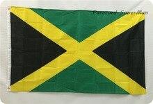 Jamaica National Flag 3ft x 5ft Hanging Flag Polyester Jamaica Flag Banner Outdoor Indoor 150x90cm Big Flag for Celebration