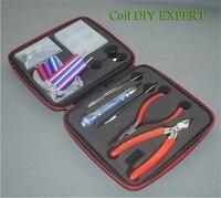 leiqidudu DHL coil DIY Kit Ohm meter wire coiling tool coil jig ceramic tweezers kit for RBA RDA DIY coil