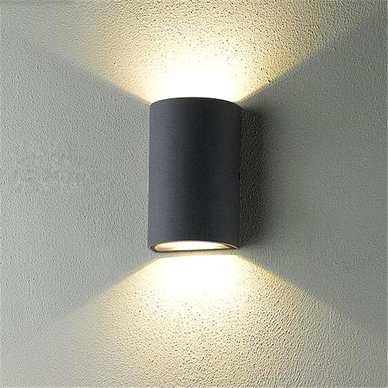 Cob modern led wall lamps 2 5w indoor outdoor lighting for Exterior up and down lights led