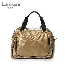 Женская модная блестящая яркая Лаковая Сумка-тоут, хорошая вместительность, мягкие водонепроницаемые нейлоновые сумки, двойная молния, карманы, вместительная сумка