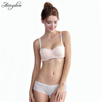 Hot Sale Luxury 1/2 Cup Brand Sexy Intimates Push Up Bra Set Underwear Floral Embroidery Lace Women Bra Panty