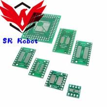 35pcs PCB Board Kit SMD Turn To DIP Adapter Converter Plate SOP MSOP SSOP TSSOP SOT23 8 10 14 16 20 28 SMT To DIP DIY sg6105dz dip 20