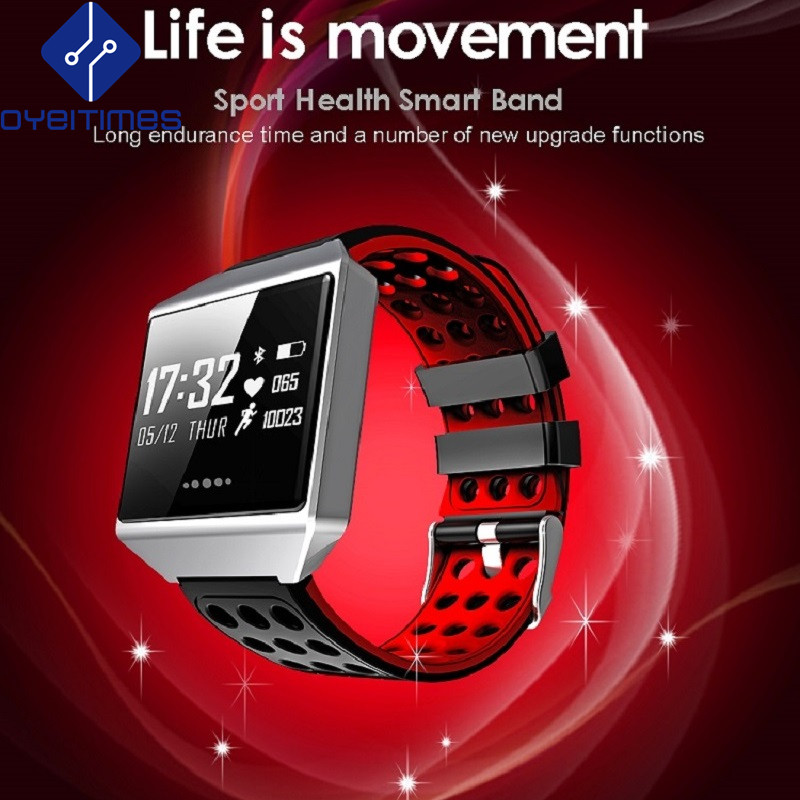 OYEITIMES CK12S Large Screen Smart Bracelet Continuous Heart Rate Monitor Blood Pressure Smart Watch Pedometer Activity Tracker v36 gps tracker smart bracelet with heart rate blood pressure monitor smart watch pedometer activity gps tracker sos alarm 25